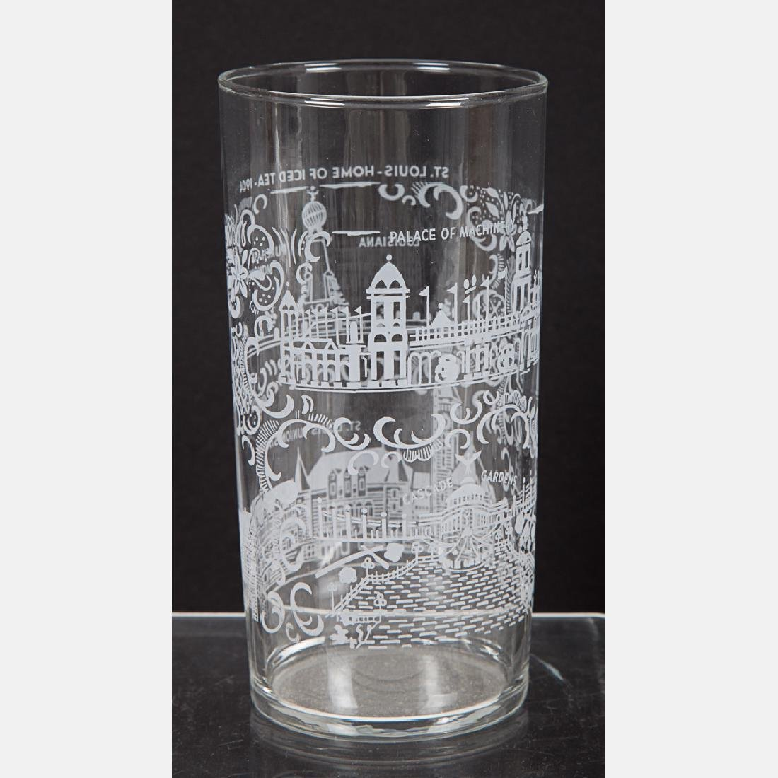 A Group of Fourteen Etched Clear Glassware from the - 2