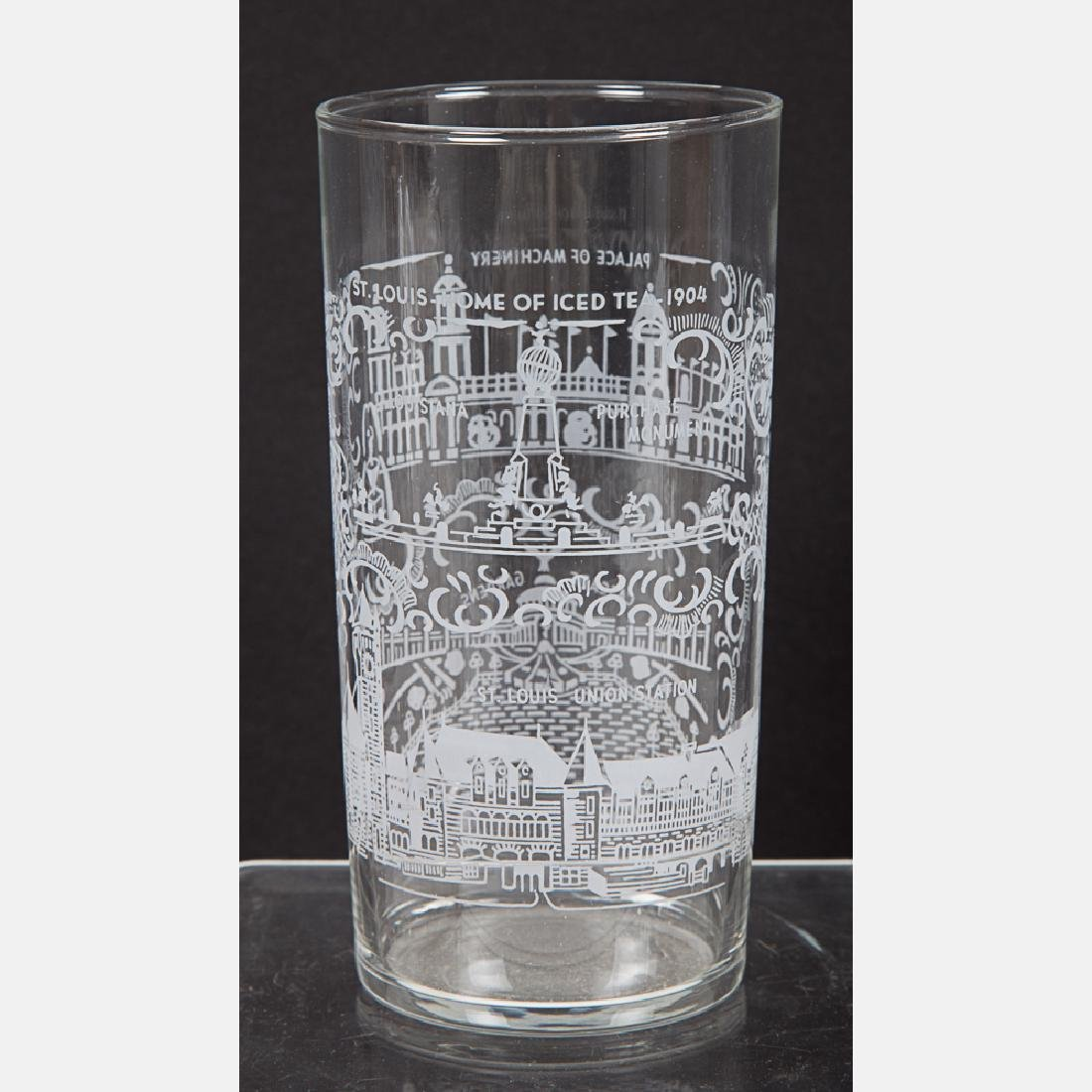 A Group of Fourteen Etched Clear Glassware from the - 3