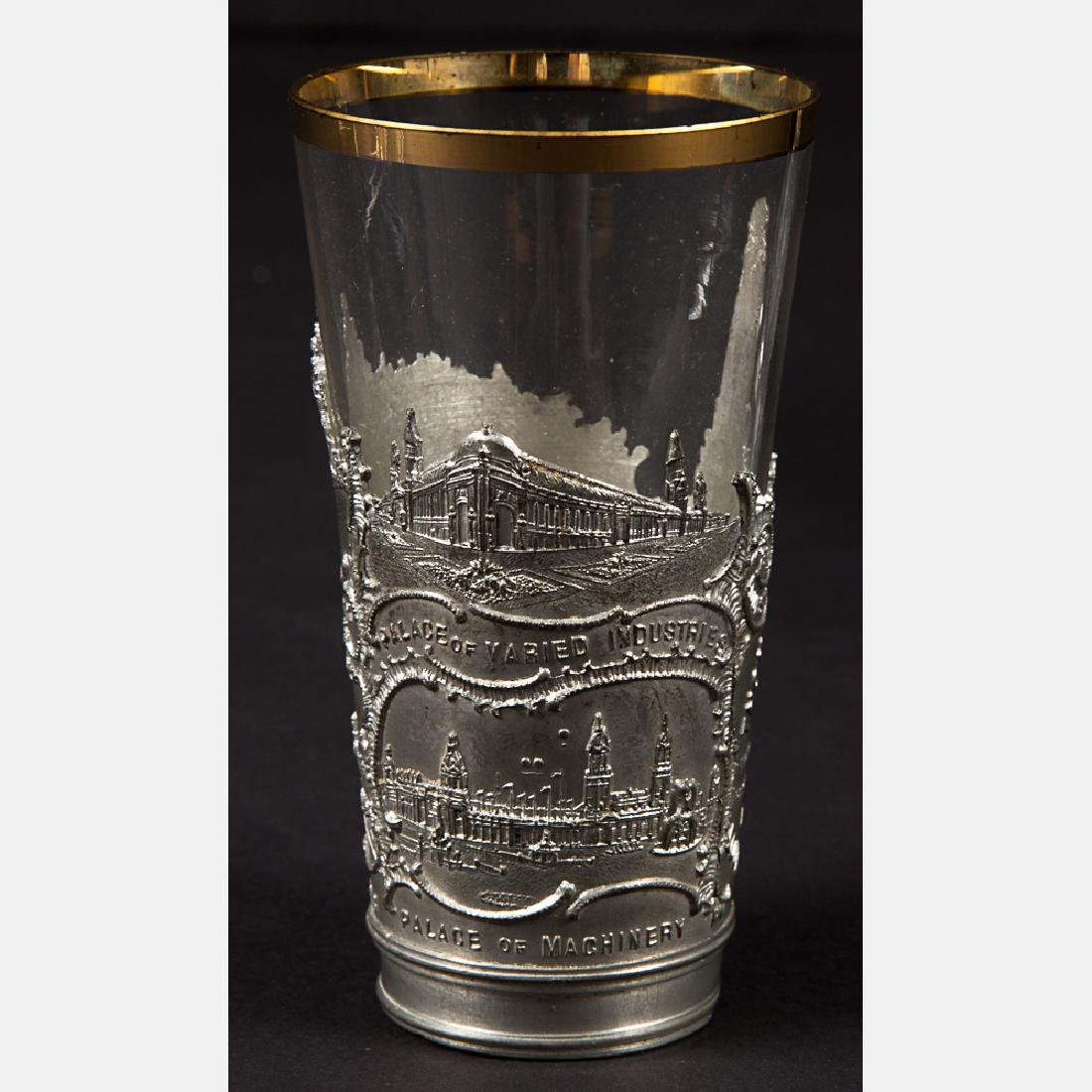 A Group of Three Glass and Metal Decorative and Serving - 2