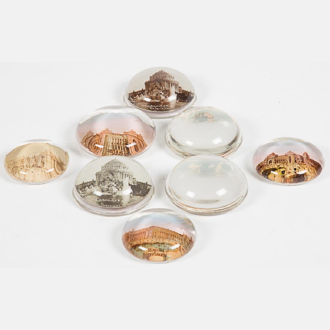 A Group of Eight Glass Circular Paperweights by Various - 5