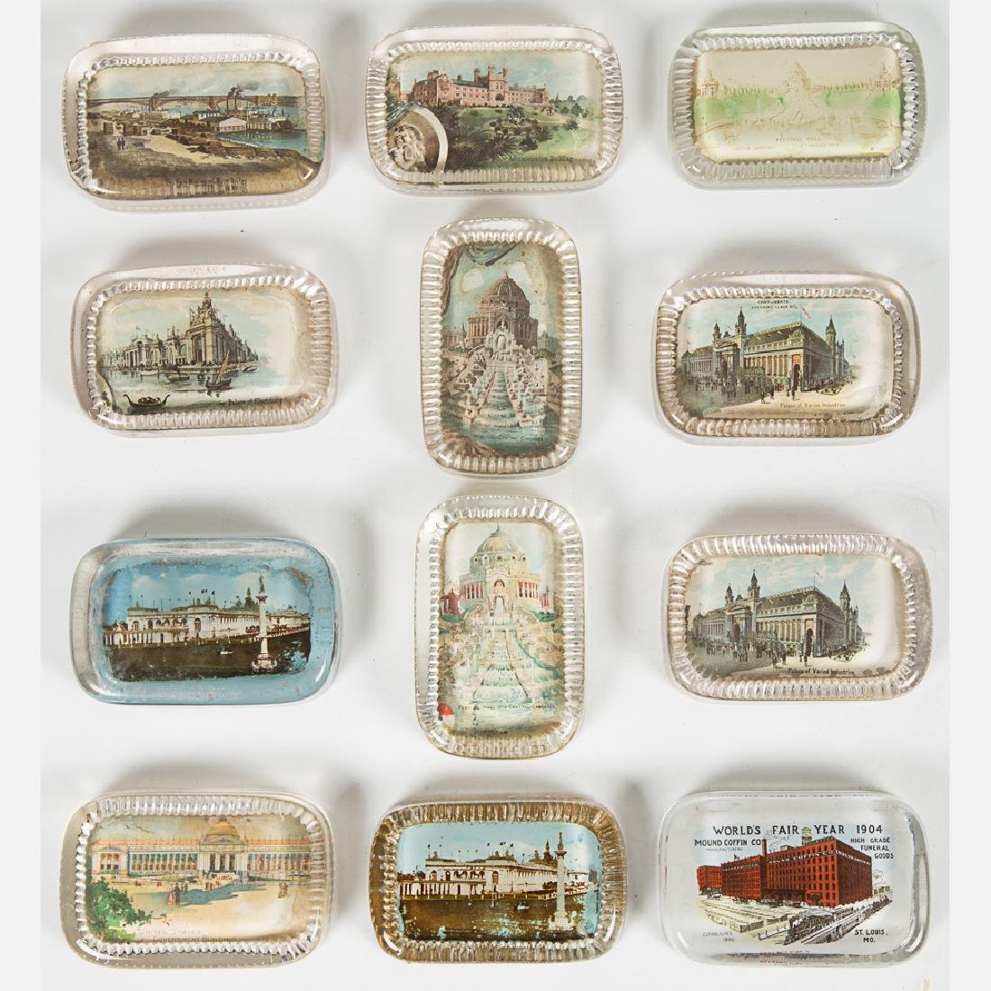 A Group of Twelve Glass Paperweights by Various Makers