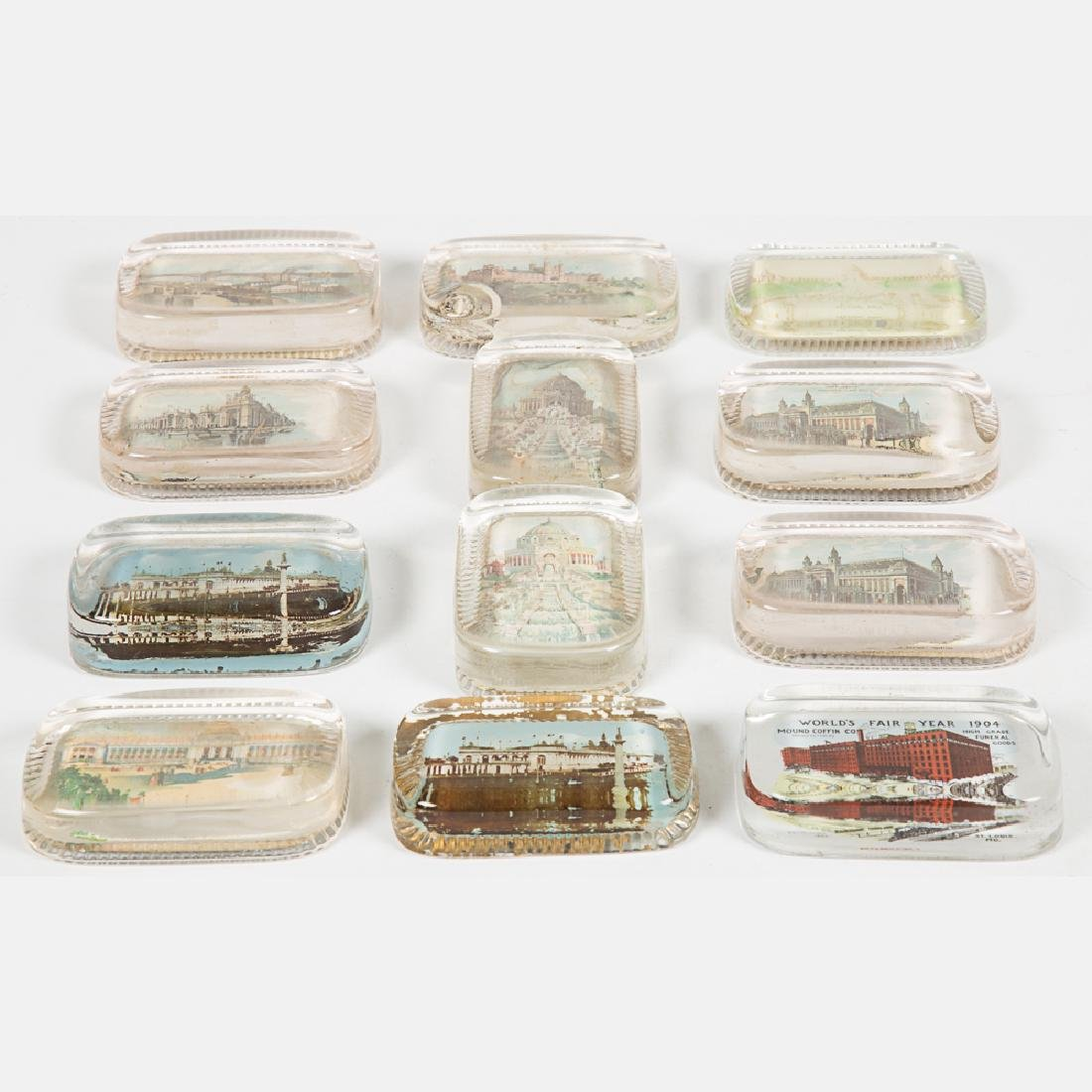 A Group of Twelve Glass Paperweights by Various Makers - 4