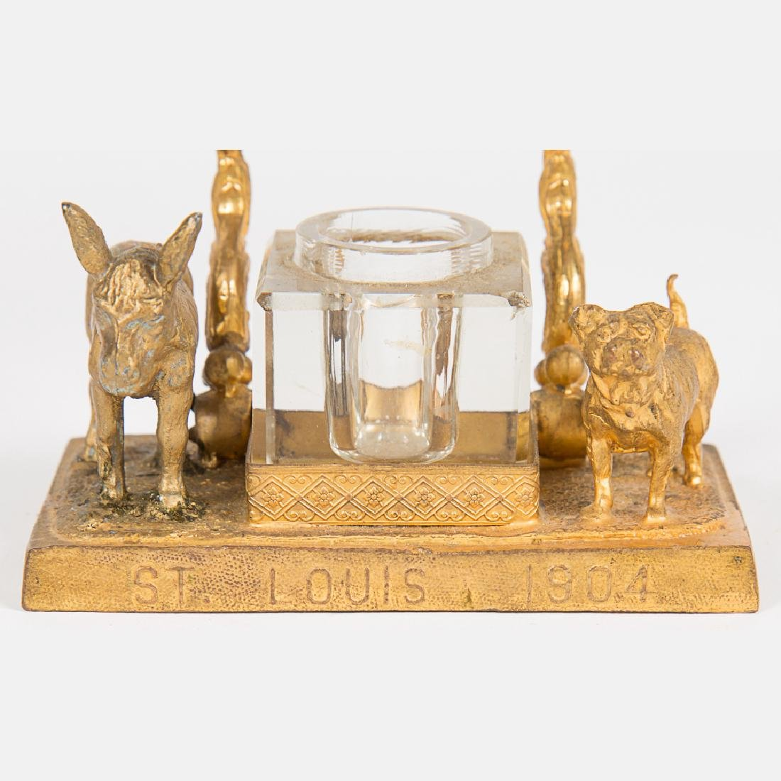 A Group of Three Brass Over Metal and Glass Mule Form - 6