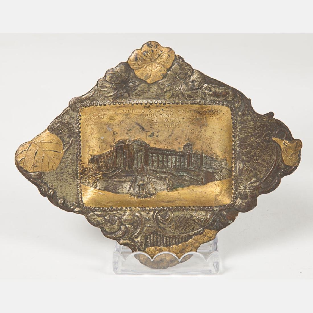 A Group of Six Metal Souvenir Trays from the Louisiana - 8