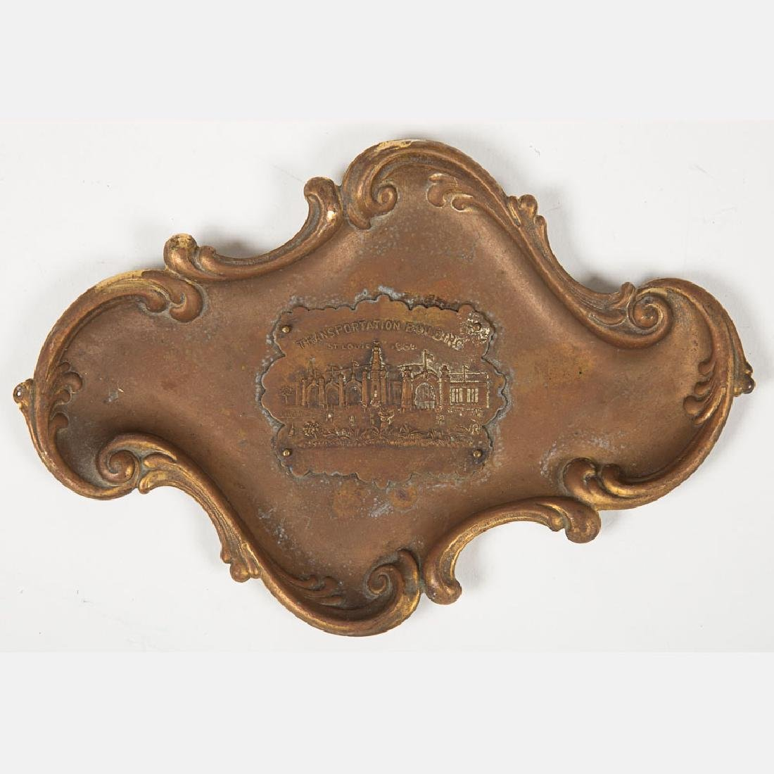 A Group of Six Metal Souvenir Trays from the Louisiana - 9
