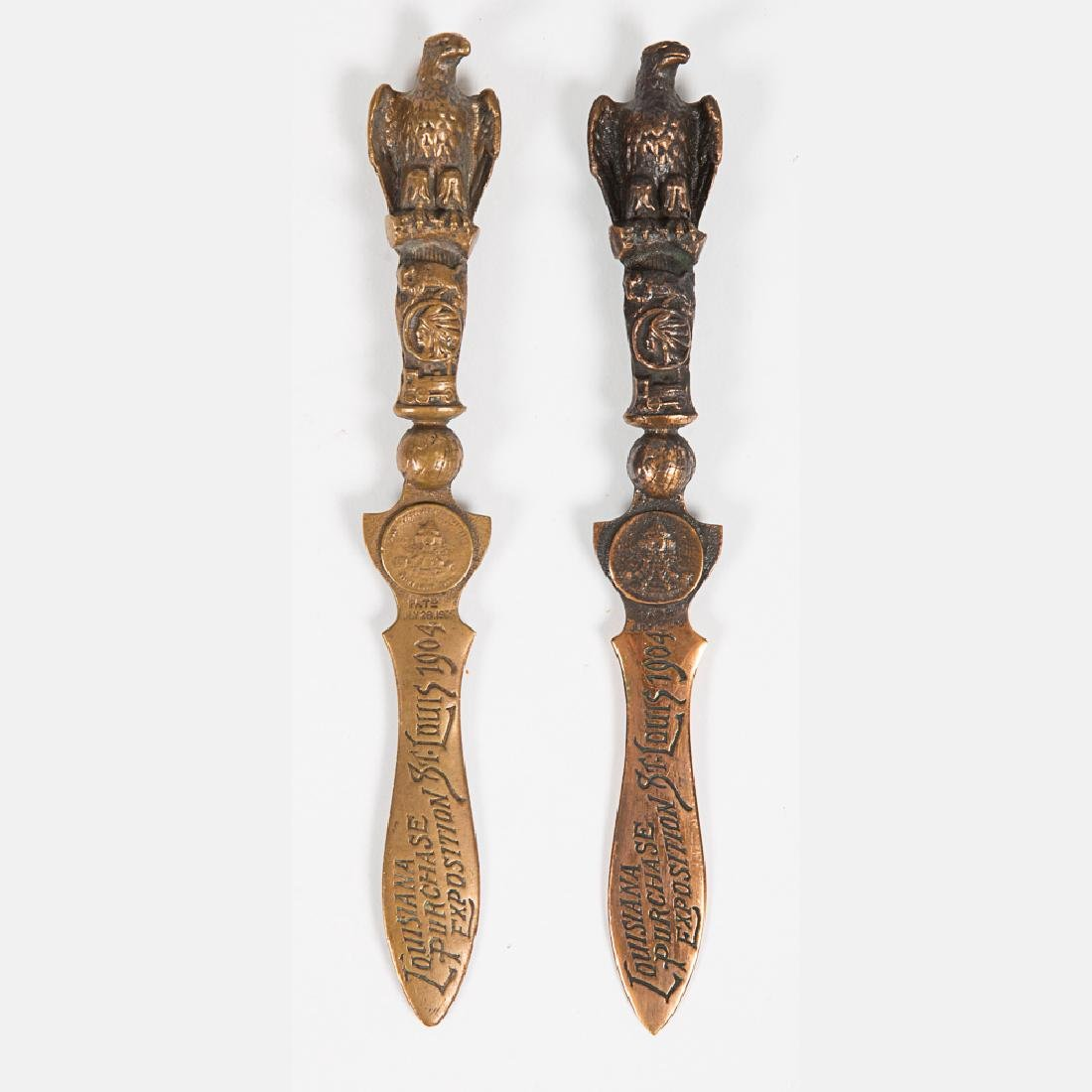 Two Brass and Bronze Letter Openers from the Louisiana