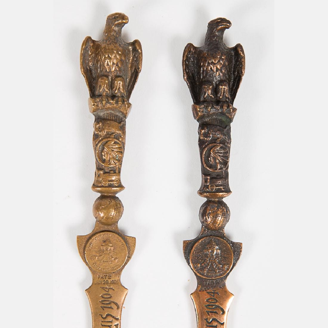 Two Brass and Bronze Letter Openers from the Louisiana - 2