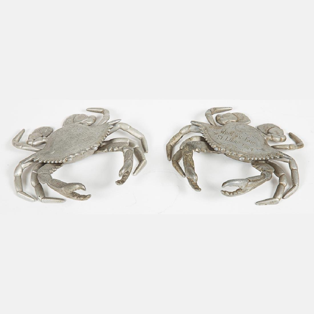 Two Aluminum Crab Form Encriers from the Louisiana