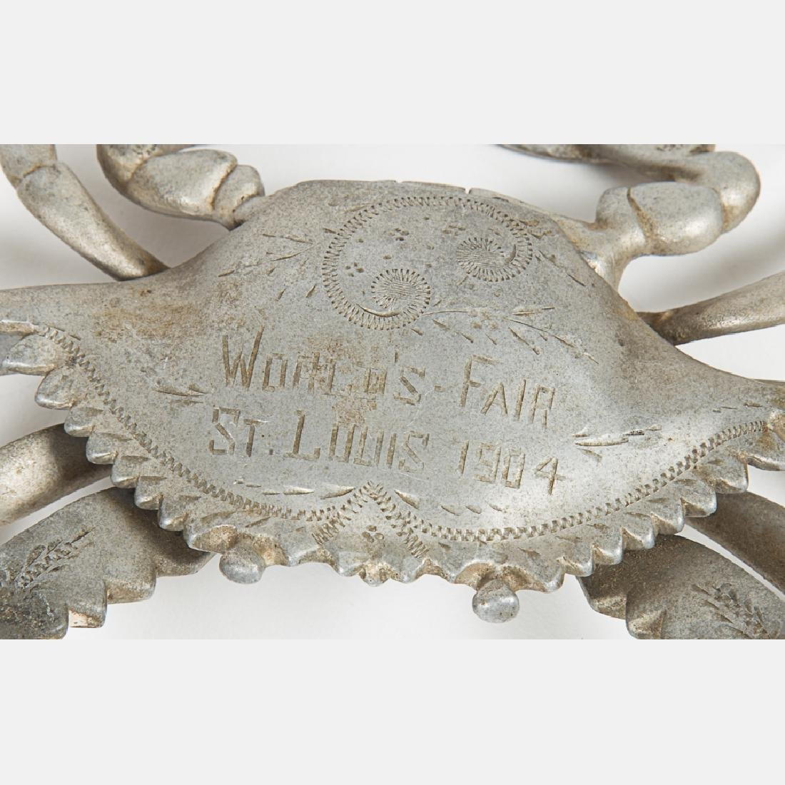 Two Aluminum Crab Form Encriers from the Louisiana - 2
