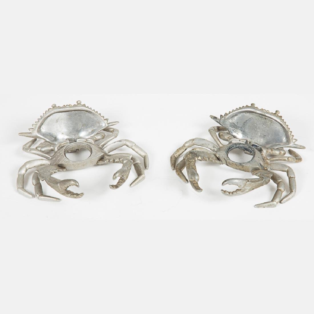 Two Aluminum Crab Form Encriers from the Louisiana - 4