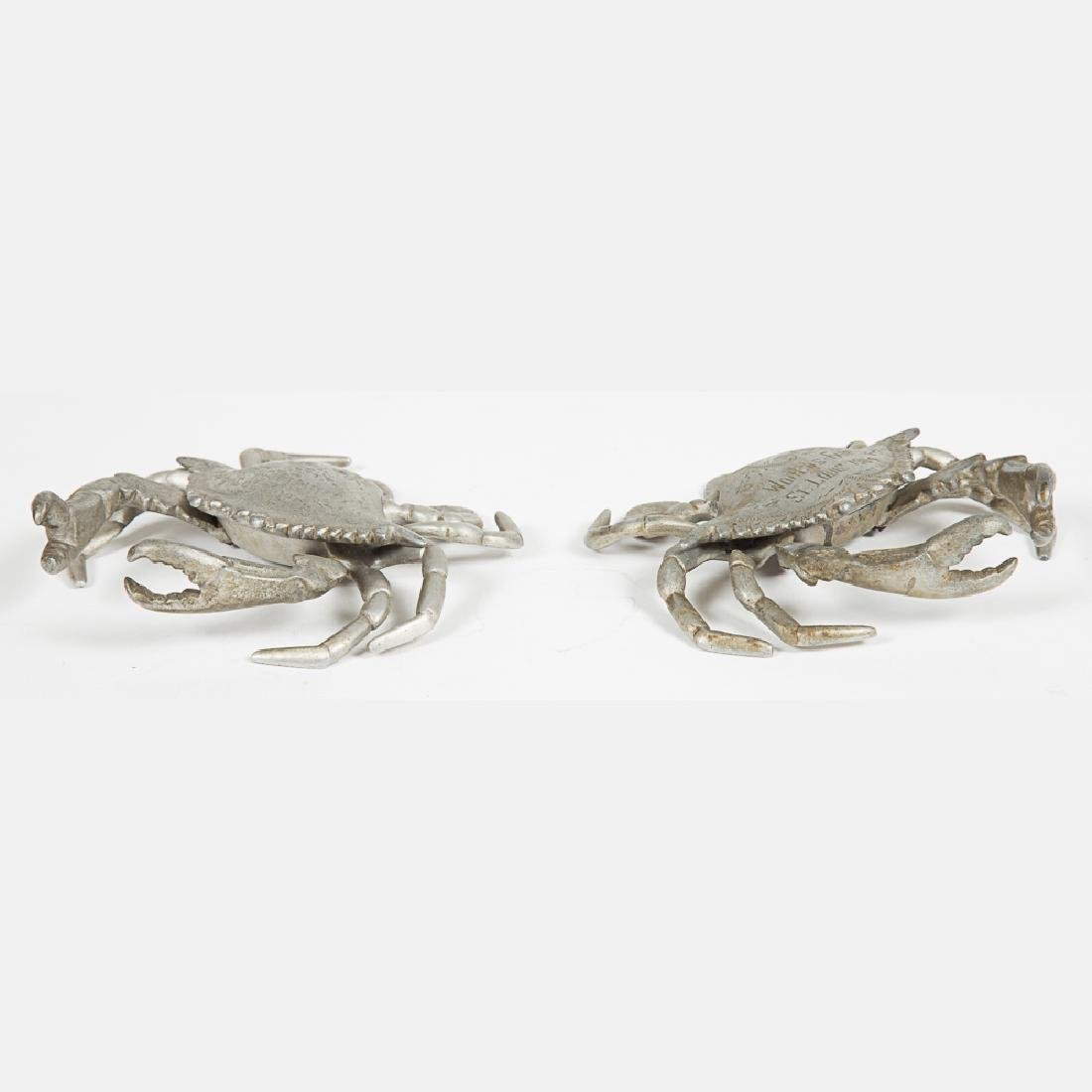 Two Aluminum Crab Form Encriers from the Louisiana - 5