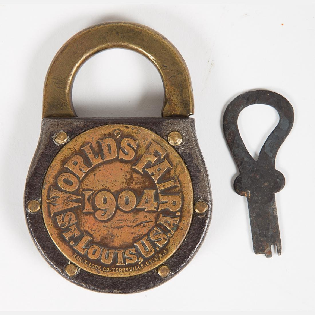 An Iron and Brass Eagle Lock & Co. World's Fair 1904 - 2