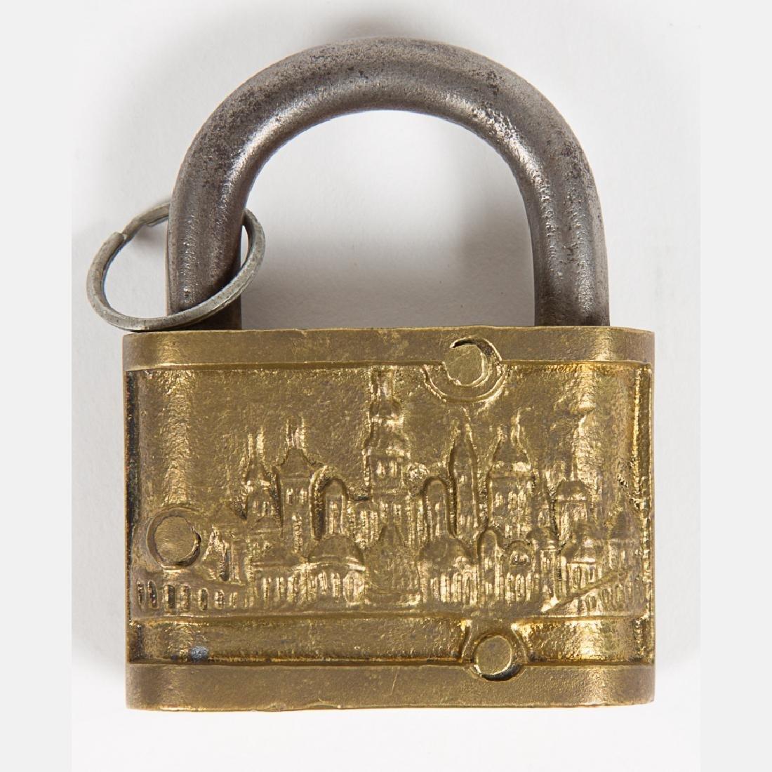 An Iron and Brass Eagle Lock & Co. World's Fair 1904 - 5