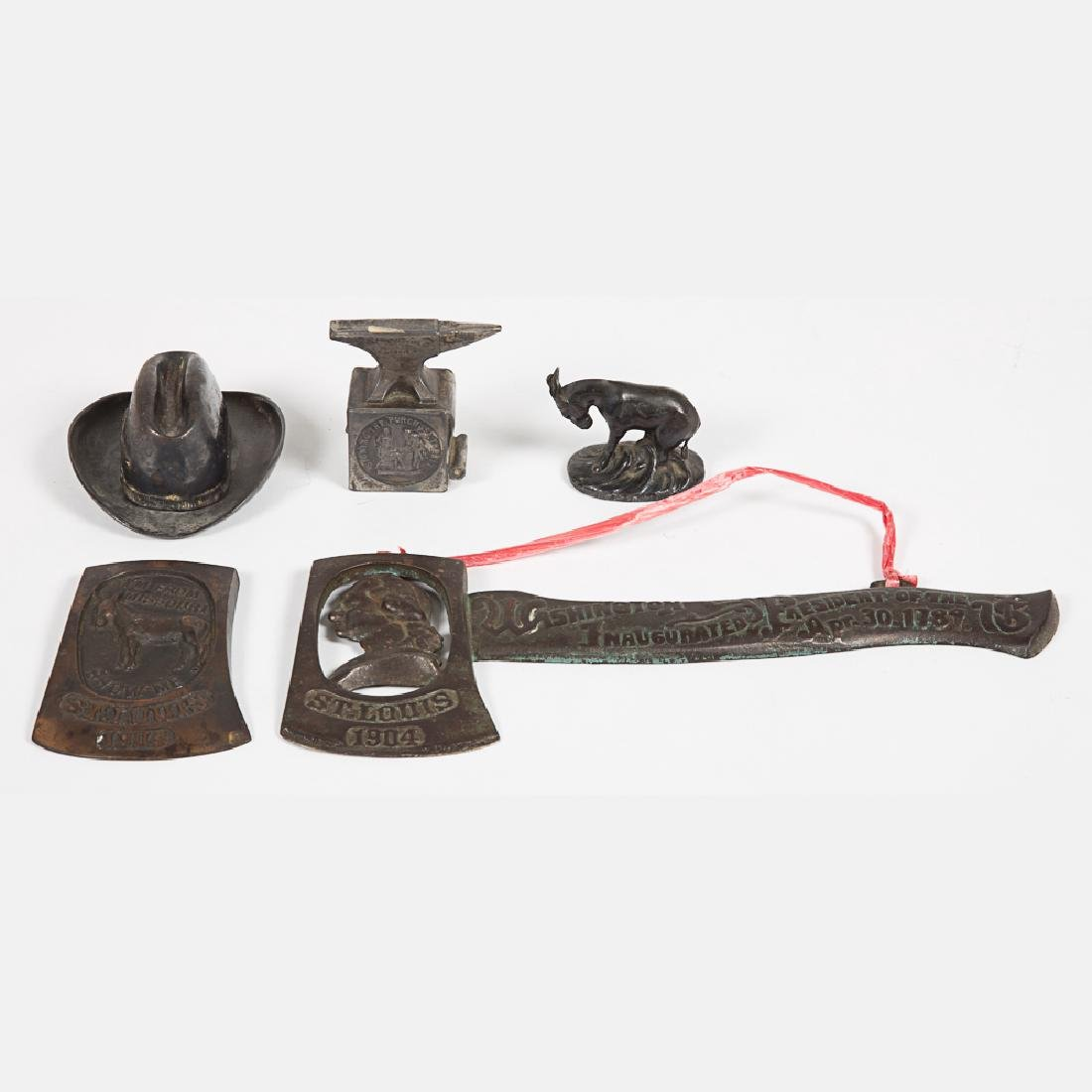 A Miscellaneous Collection of Five Iron and Cast Metal