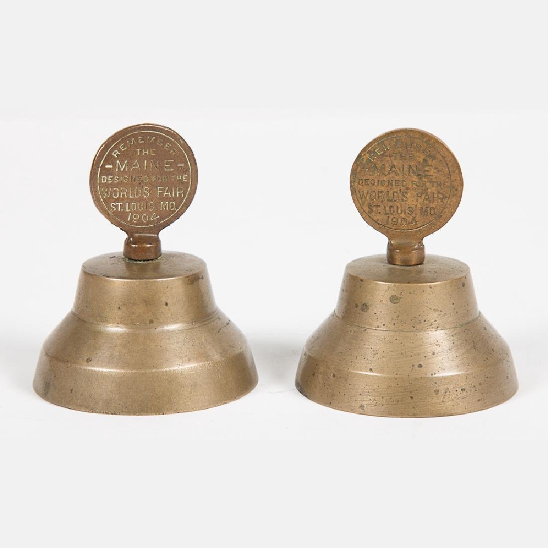 Two 'Remember the Maine' Brass Bells from the Louisiana