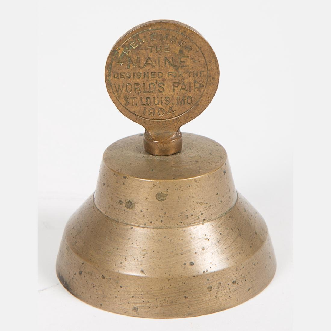 Two 'Remember the Maine' Brass Bells from the Louisiana - 3