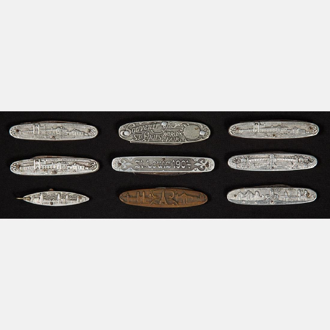 A Group of Nine Aluminum and Brass Pocket Knives from - 2