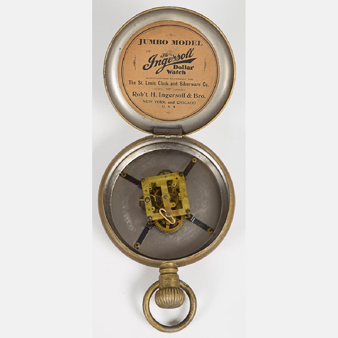An Ingersoll Jumbo Model Gilt Pocket Watch, 20th - 5