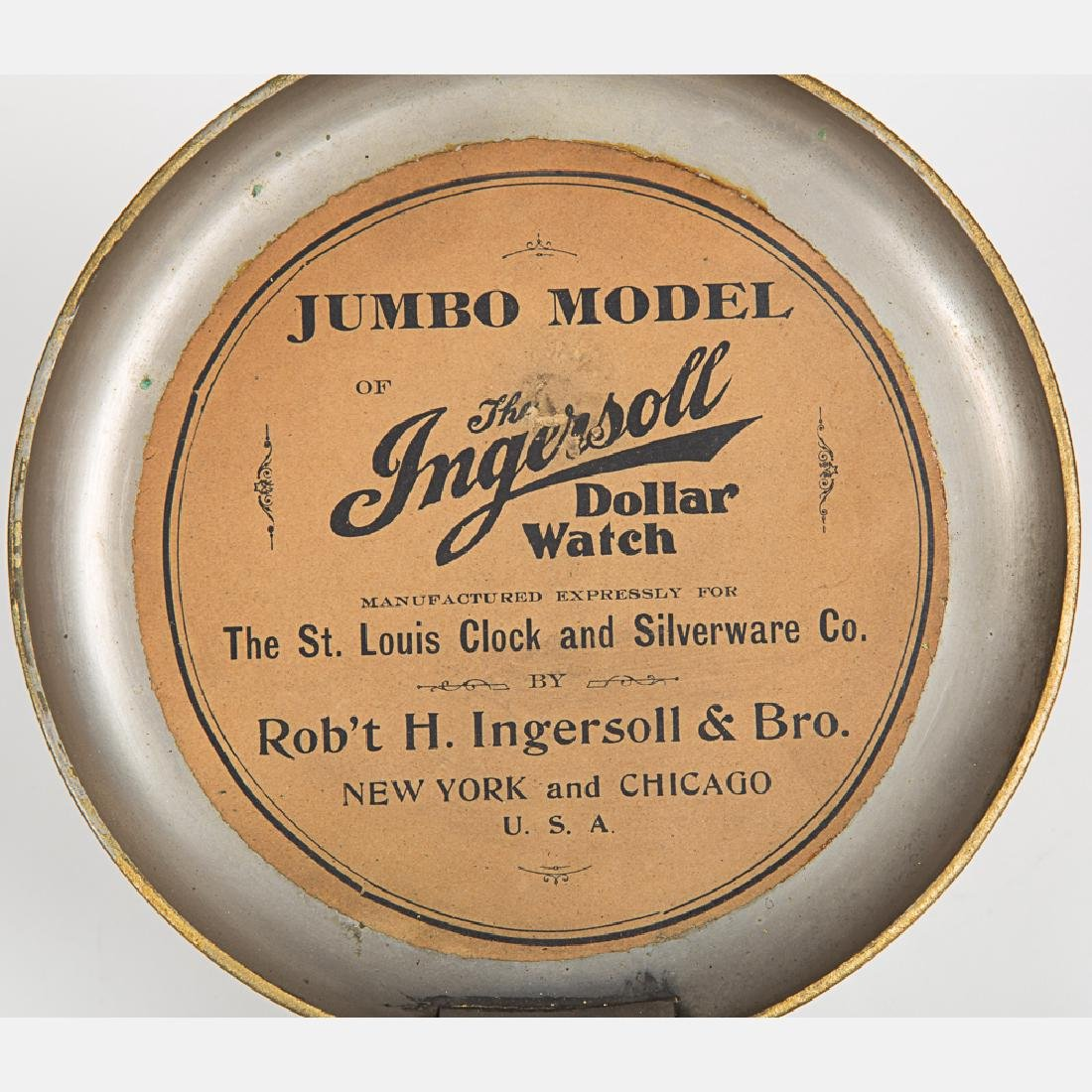 An Ingersoll Jumbo Model Gilt Pocket Watch, 20th - 7