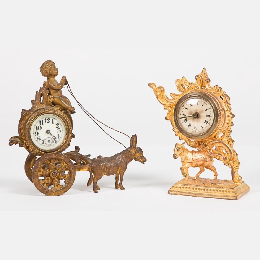 A West Germany Gilt Metal Clock from the Louisiana