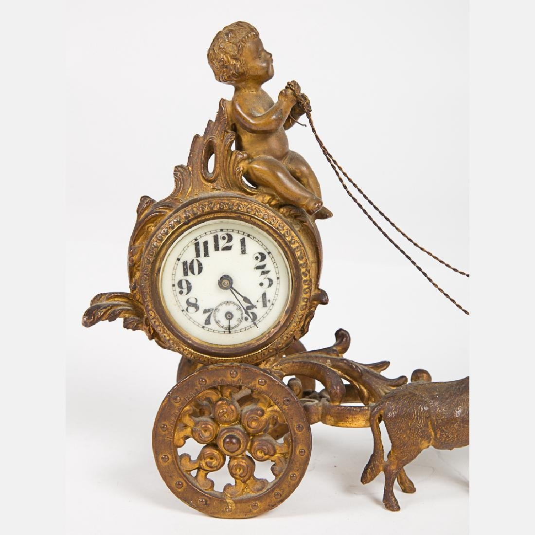 A West Germany Gilt Metal Clock from the Louisiana - 2