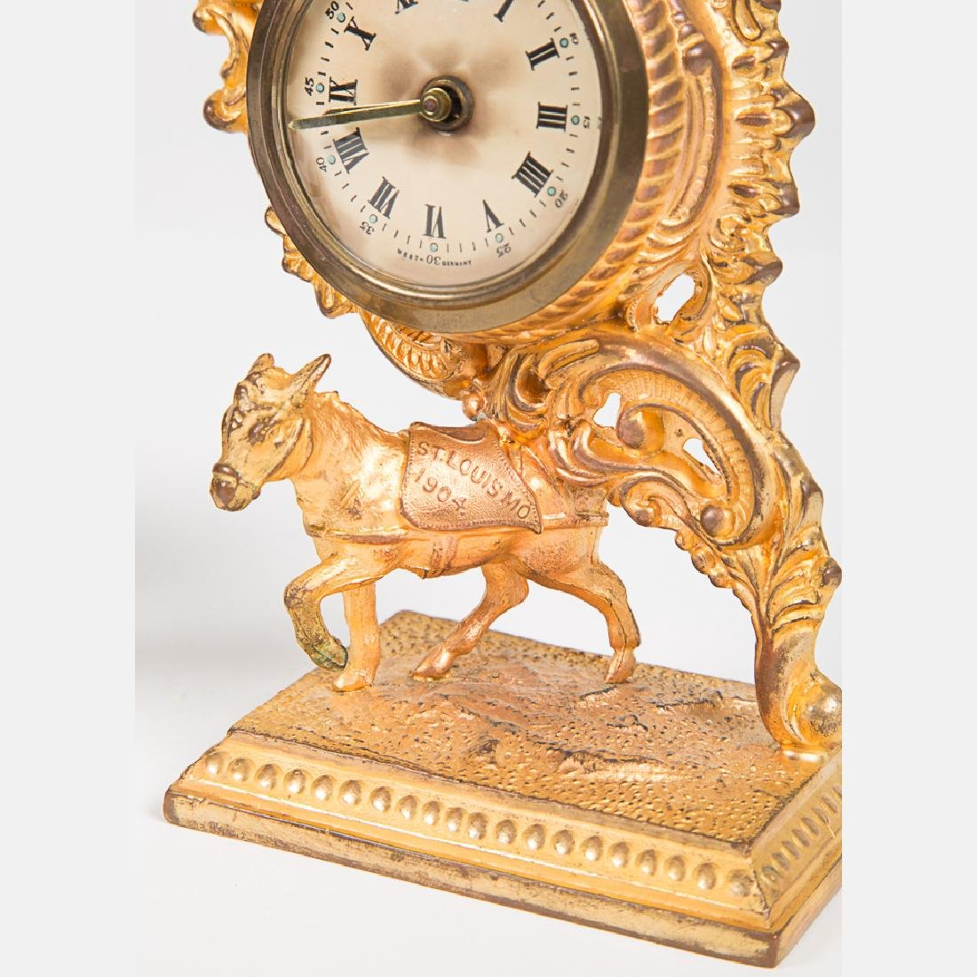 A West Germany Gilt Metal Clock from the Louisiana - 3