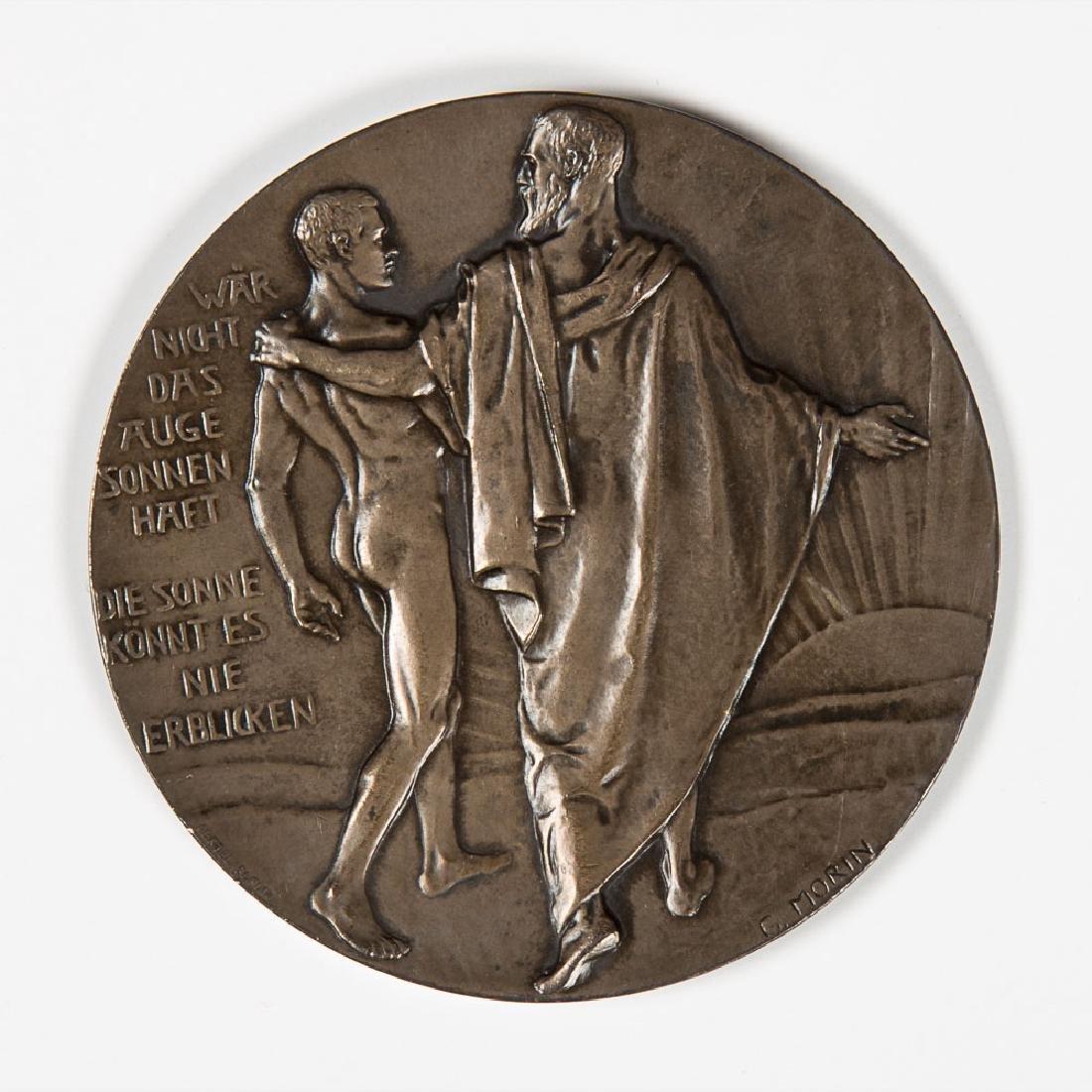 A German Silvered Metal Medal by Georges Morin
