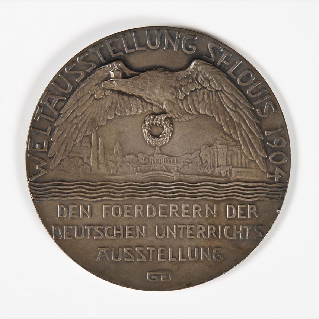 A German Silvered Metal Medal by Georges Morin - 3