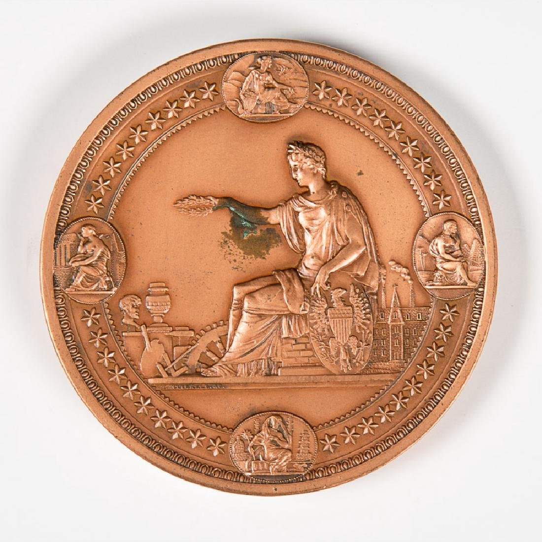 A Copper Medal by H. Mitchell from the Centennial