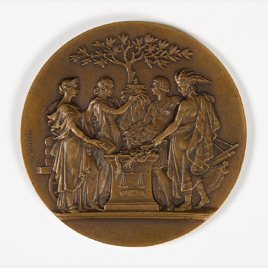 A Bronze Medal by De Paulis from the Louisiana Purchase