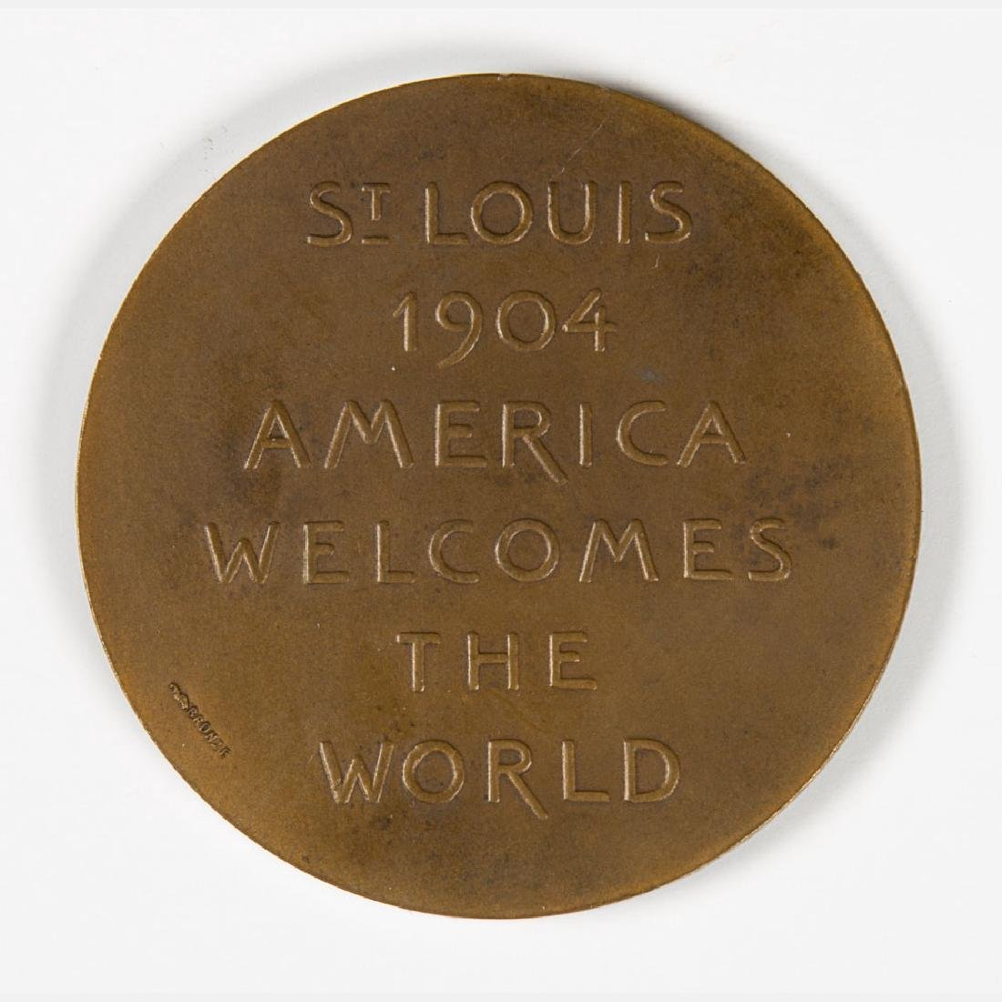 A Bronze Medal by De Paulis from the Louisiana Purchase - 3