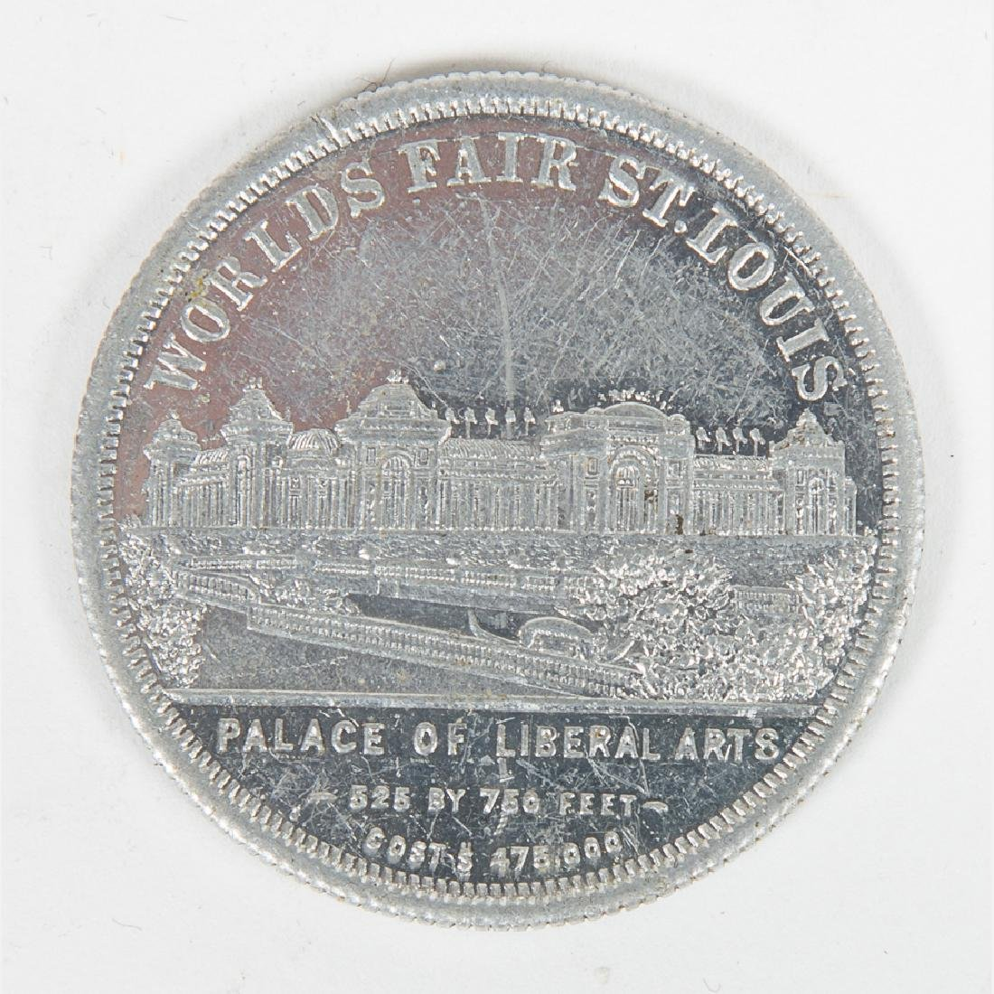 A Box Set of Five Aluminum Palace Dollars from the - 4