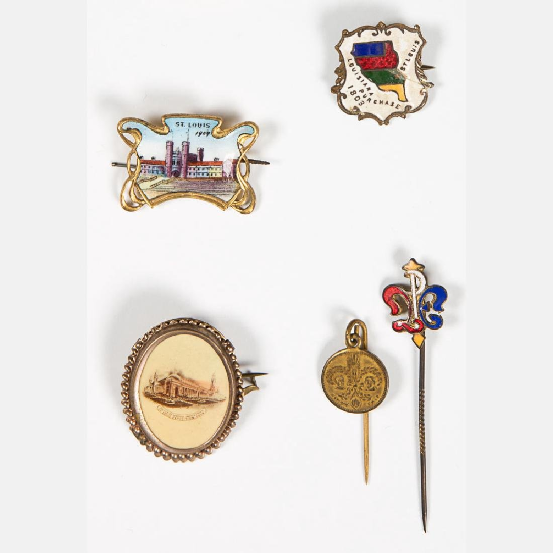 A Miscellaneous Collection of Enameled and Metal Pins - 5
