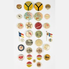A Miscellaneous Collection of Thirty-One Celluloid Pins