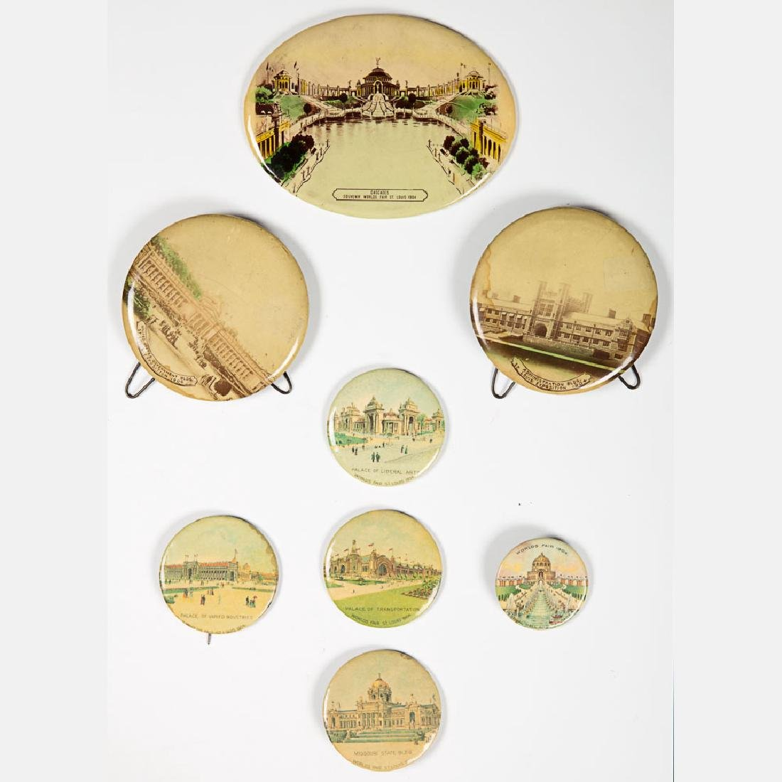 A Miscellaneous Collection of Eight Celluloid Souvenirs