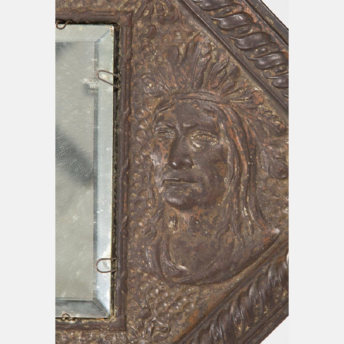 A Copper and Copper Plated Hanging Mirror from the - 2