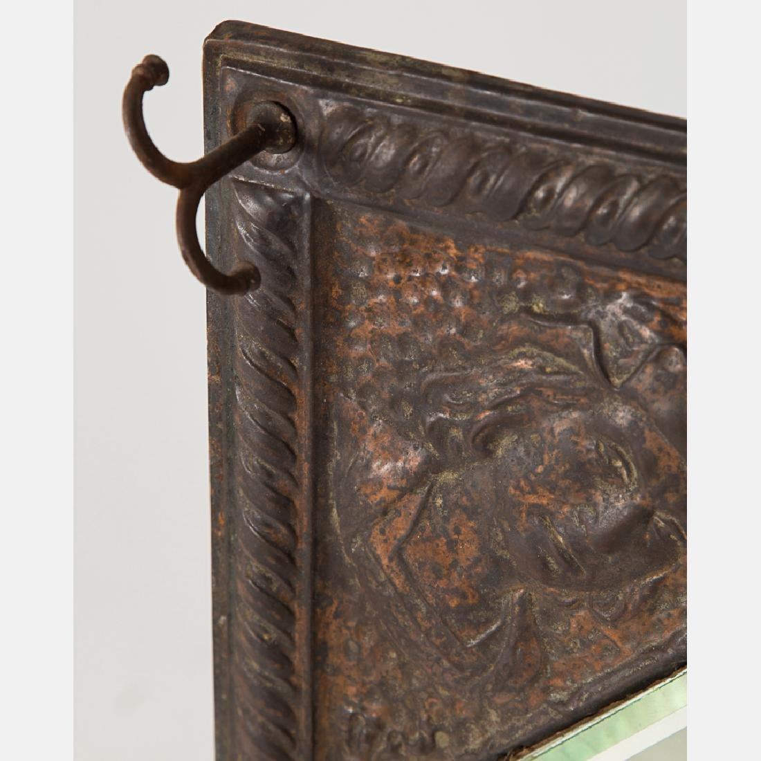 A Copper and Copper Plated Hanging Mirror from the - 4