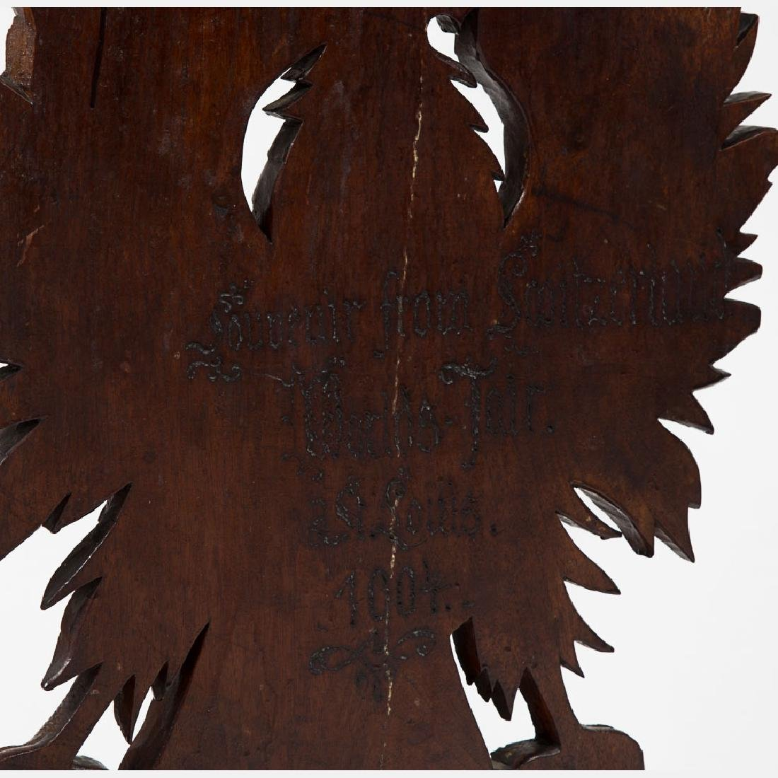 A Black Forest Carved Walnut Side Chair from the - 4