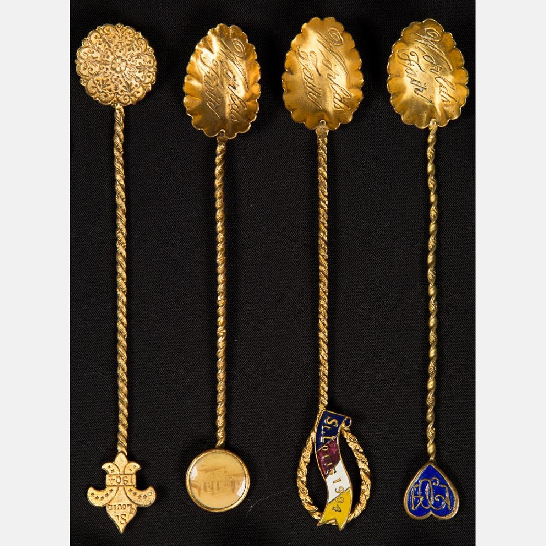 A Miscellaneous Collection of Thirteen Gold Plated - 3
