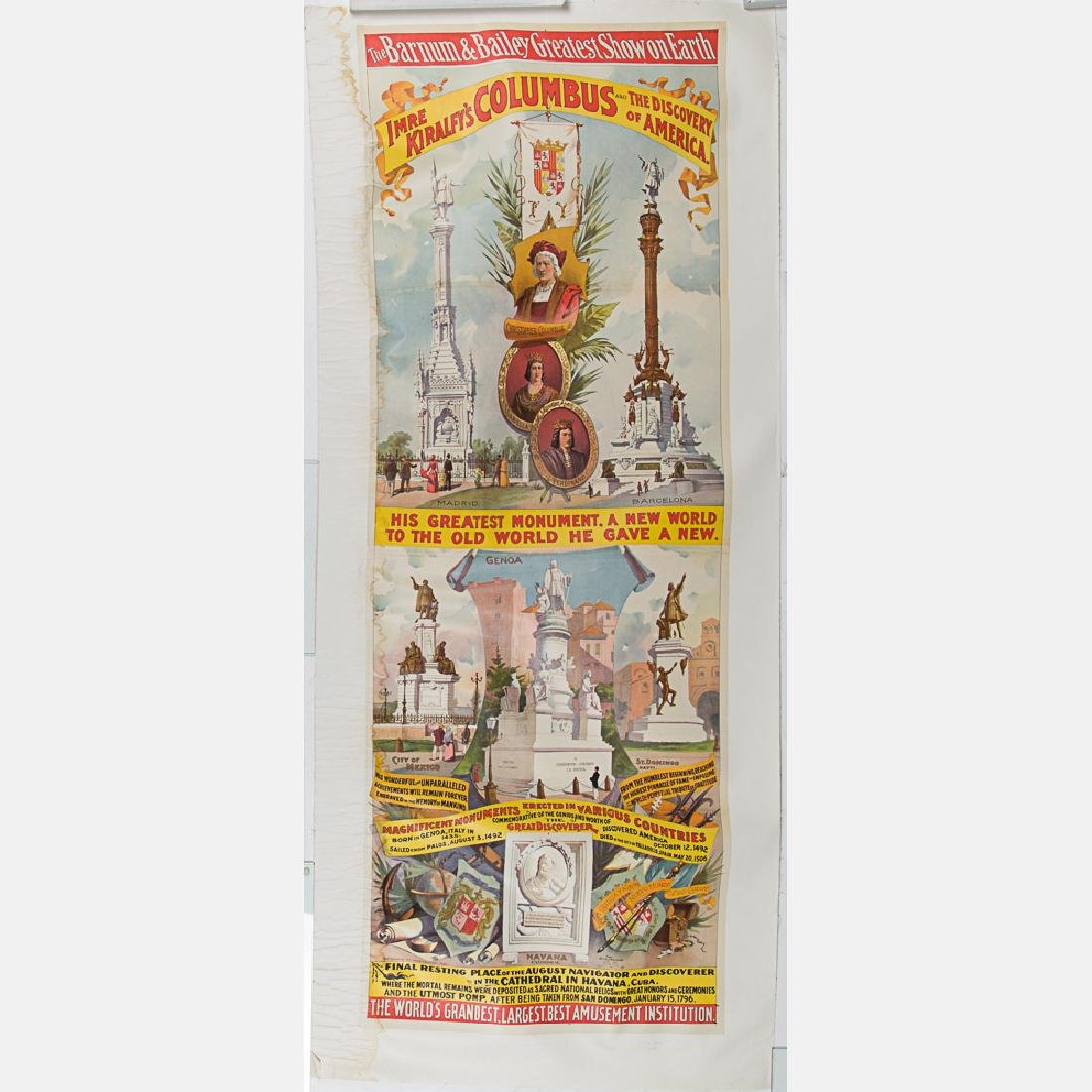 An 1892 World's Fair Columbian Exposition Barnum and
