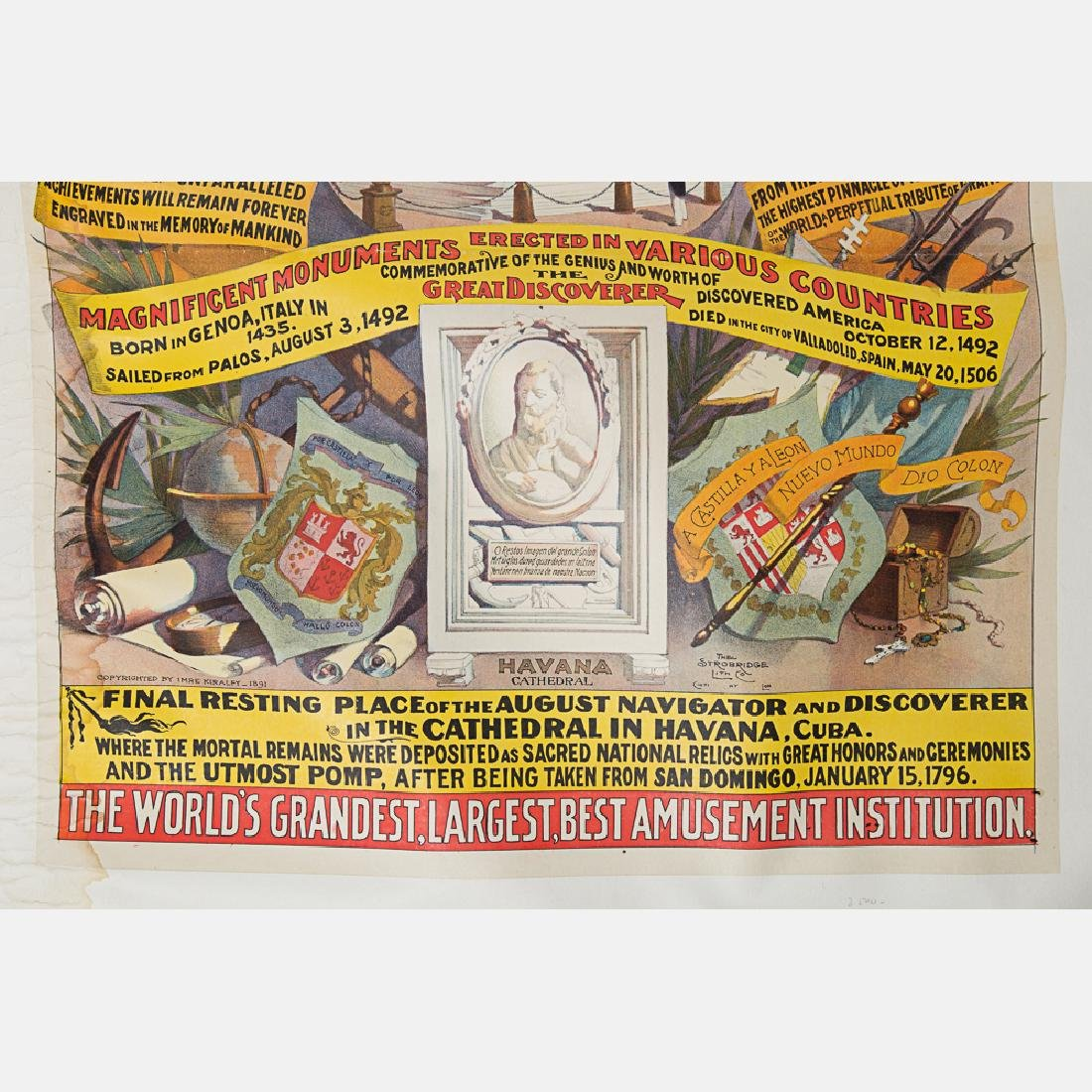 An 1892 World's Fair Columbian Exposition Barnum and - 4