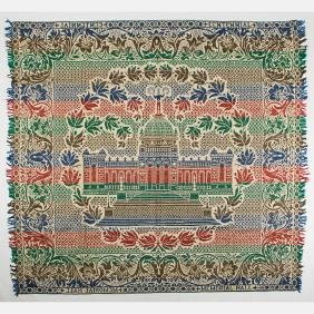 A Multicolored Woven Wool Coverlet from the Centennial