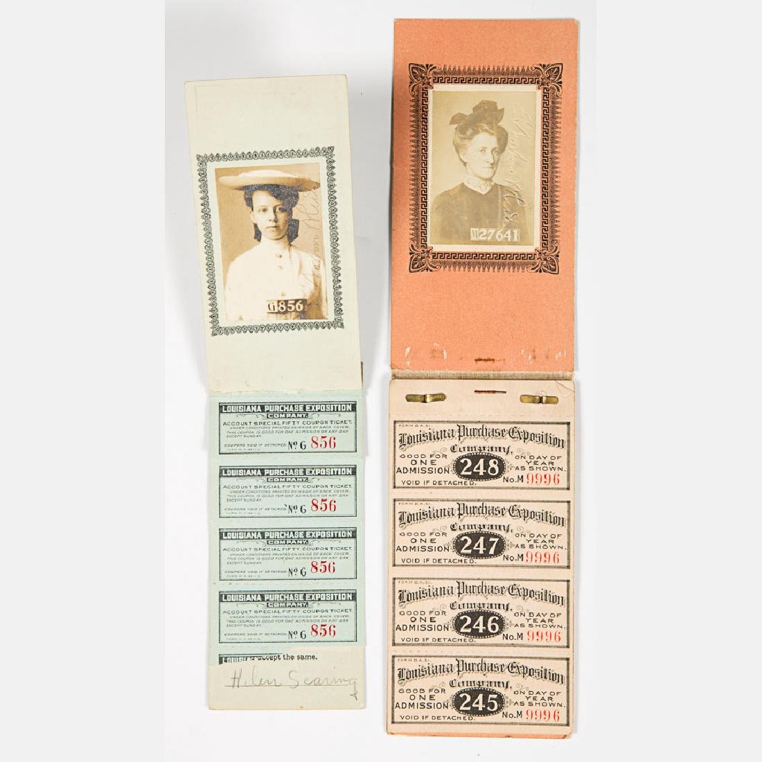 A Group of Seven Paper Tickets from the Louisiana - 5