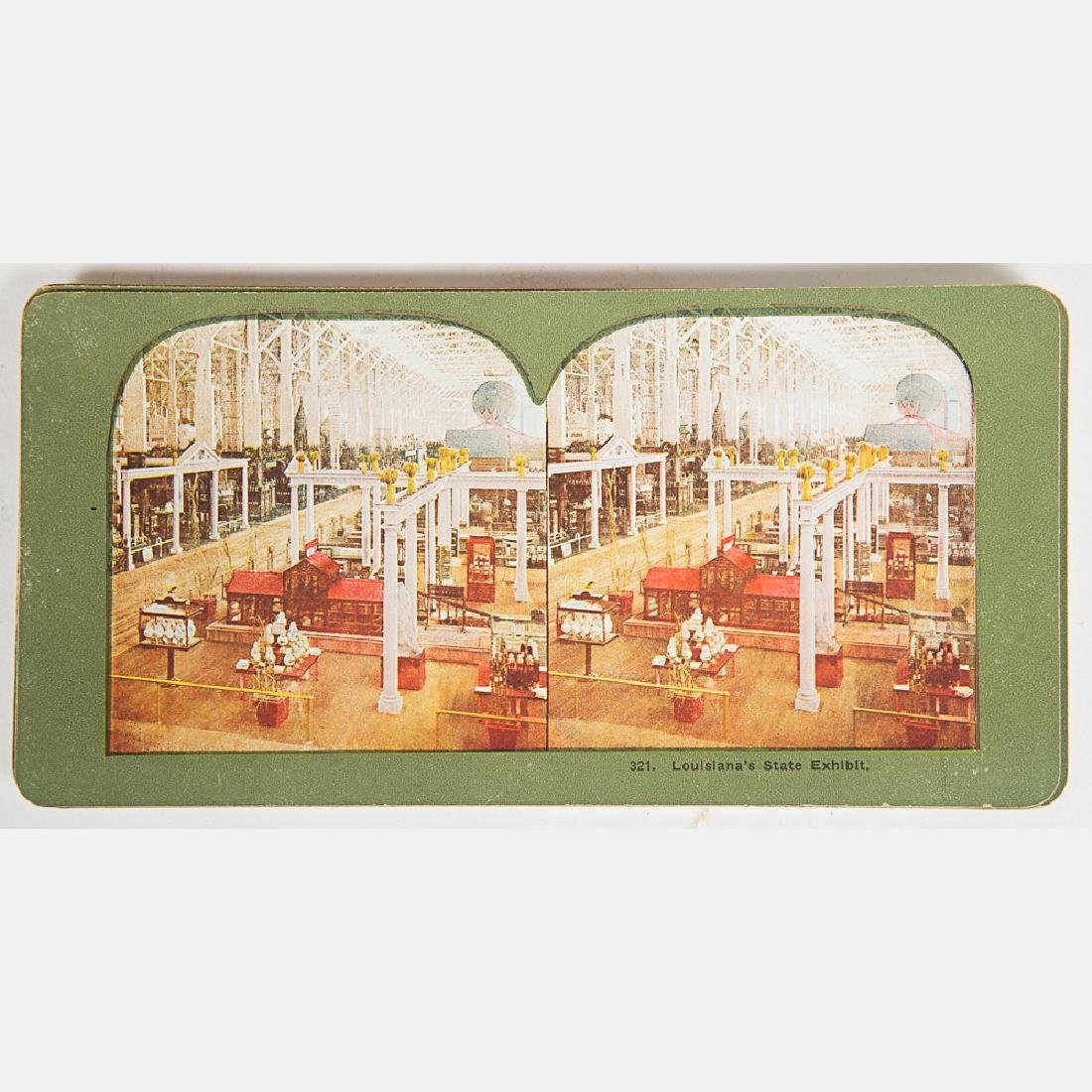 A Set of Stereoscope View Cards of the Louisiana - 4