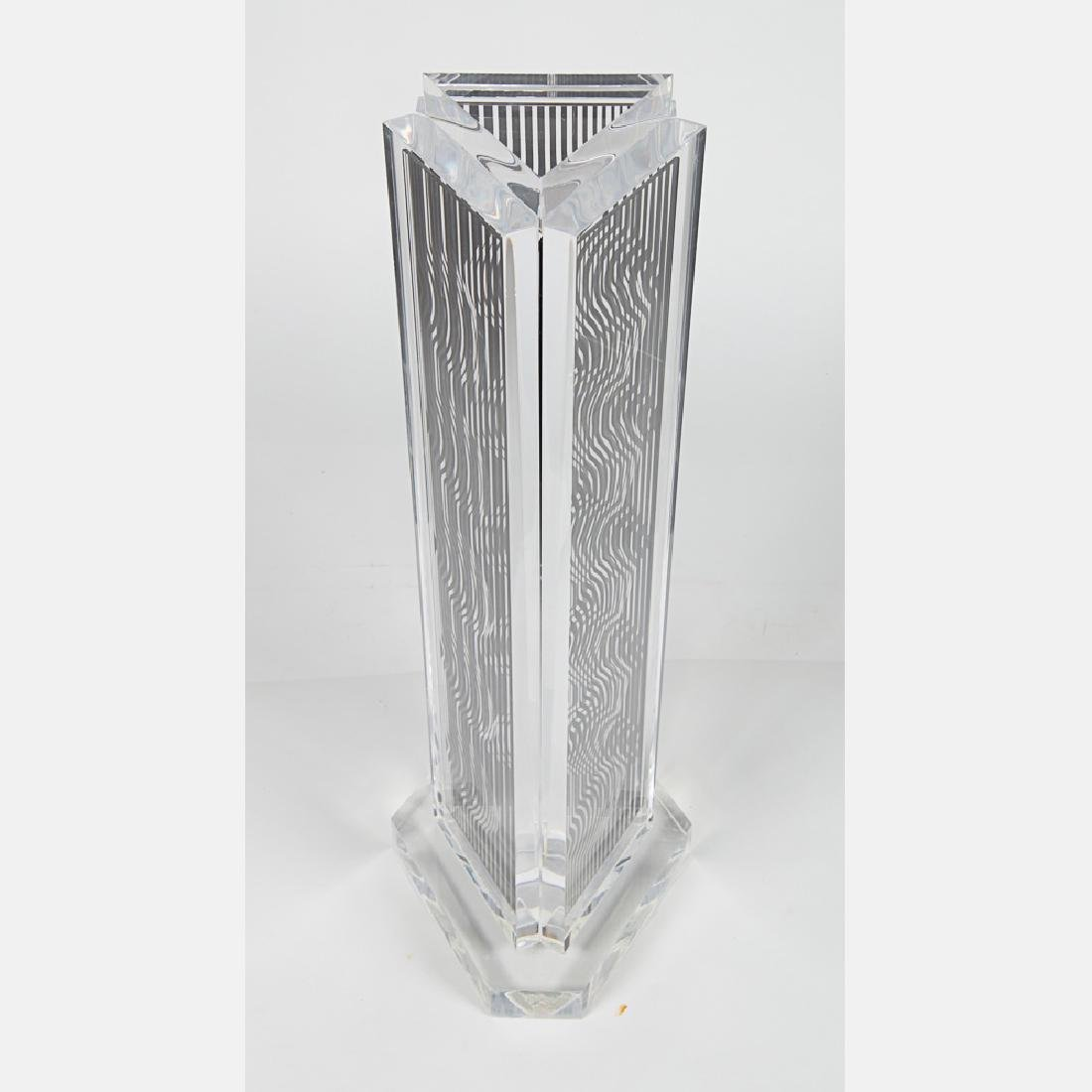 Victor Vasarely (1906-1997) Moire Tower, 1988, Perspex - 3