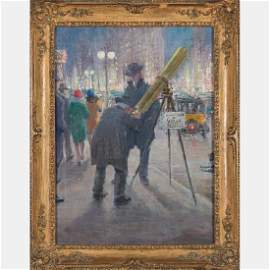 Ashcan School (Early 20th Century) New York Scene, Oil