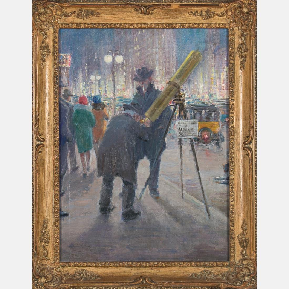 Ashcan School (Early 20th Century) New York Scene, Oil