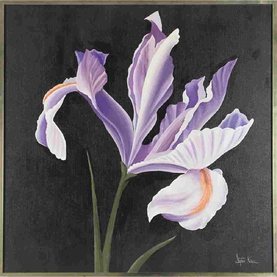 Stephen Kaye (20th Century) Iris, Oil on canvas,