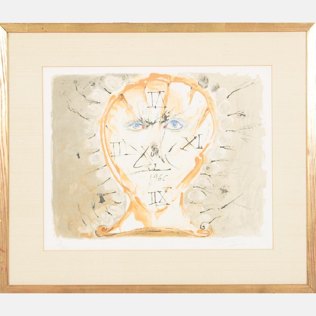 Salvador Dali (1904-1989) Self Portrait Sundial,