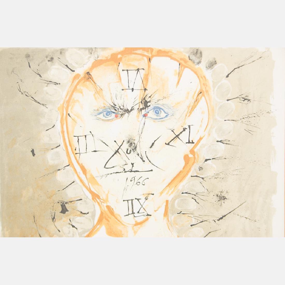 Salvador Dali (1904-1989) Self Portrait Sundial, - 2